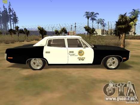 AMC Matador SA Police 1971 Final pour GTA San Andreas sur la vue arrière gauche