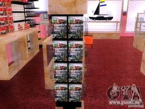 Disques avec la GTA en magasin zéro pour GTA San Andreas deuxième écran