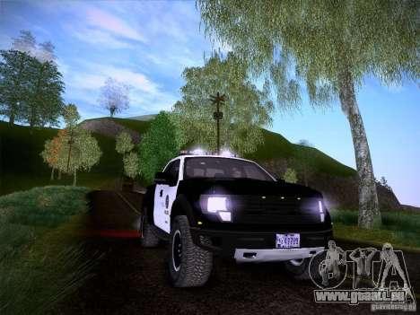 Ford Raptor Police für GTA San Andreas Unteransicht