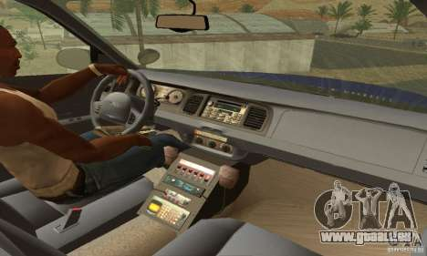 Ford Crown Victoria Virginia Police für GTA San Andreas zurück linke Ansicht
