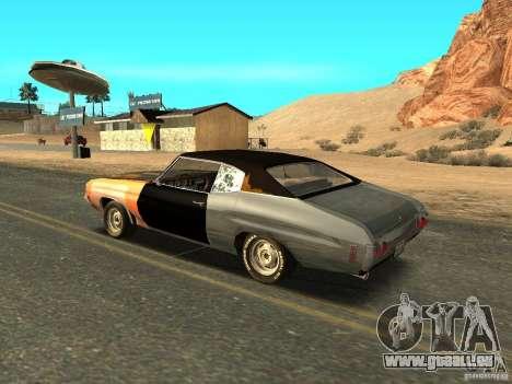 Chevrolet Chevelle Rustelle pour GTA San Andreas laissé vue