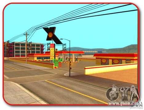 Nouvelle station d'essence Shell pour GTA San Andreas quatrième écran