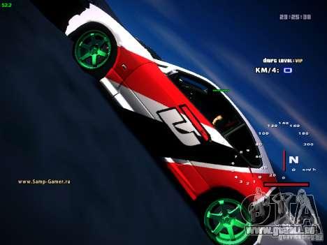 Nissan Silvia S15 DragTimes für GTA San Andreas Rückansicht