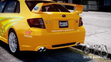 Subaru Impreza WRX STi 2011 Subaru World Rally pour GTA 4