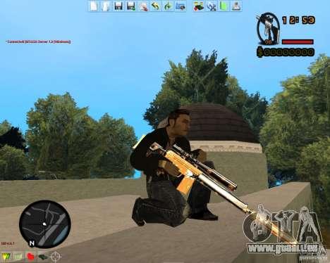 Smalls Chrome Gold Guns Pack pour GTA San Andreas huitième écran