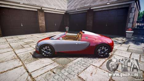 Bugatti Veyron Grand Sport [EPM] 2009 pour GTA 4 Vue arrière