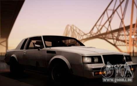 Buick GNX 1987 für GTA San Andreas Rückansicht