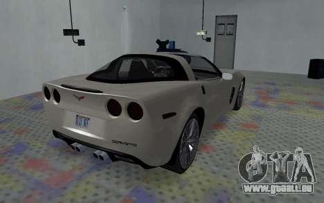 Chevrolet Covette Z06 pour GTA San Andreas sur la vue arrière gauche