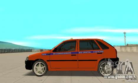 Volkswagen Gol G4 Taxi für GTA San Andreas linke Ansicht
