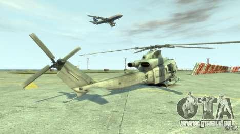 Bell UH-1Y Venom pour GTA 4 Vue arrière de la gauche