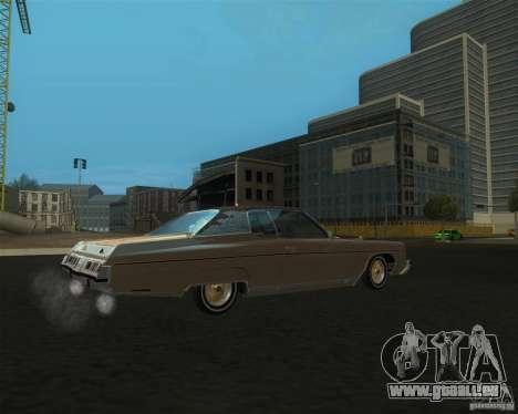 Chevrolet Caprice Classic lowrider pour GTA San Andreas laissé vue