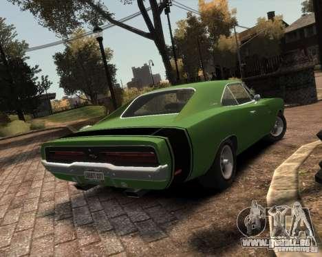 Dodge  Charger 1969 pour GTA 4 est un droit