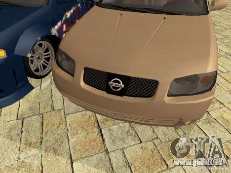 Nissan Sentra für GTA San Andreas zurück linke Ansicht