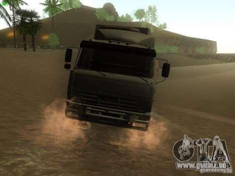 KAMAZ 6460 pour GTA San Andreas sur la vue arrière gauche