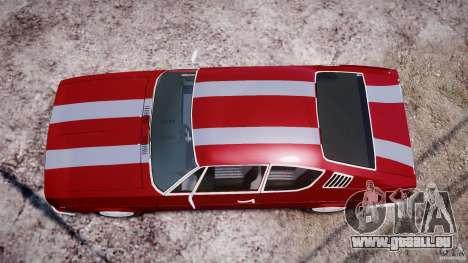 Audi 100 Coupe S pour GTA 4 est une vue de dessous