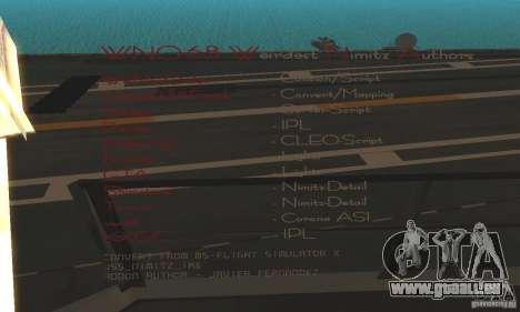 CVN-68 Nimitz pour GTA San Andreas deuxième écran