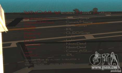 CVN-68 Nimitz für GTA San Andreas zweiten Screenshot