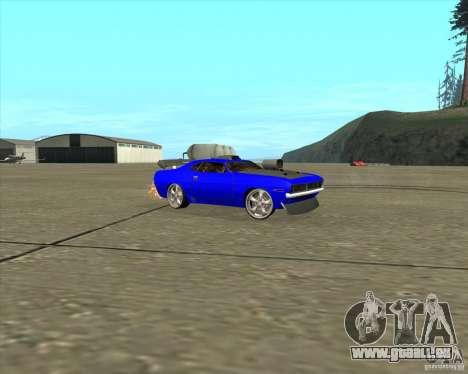 Plymouth Hemi Cuda de NFS Carbon pour GTA San Andreas laissé vue