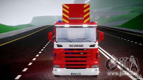 Scania R580 Fire ladder PK106 [ELS] für GTA 4 Seitenansicht