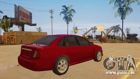 Buick Excelle pour GTA San Andreas vue de droite