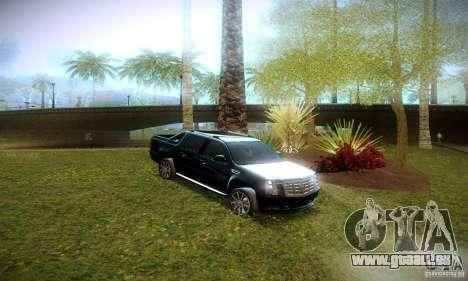 Cadillac Escalade Ext pour GTA San Andreas vue intérieure