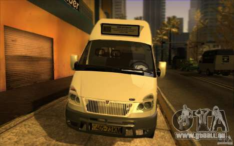 Gazelle SPV-16 Rue pour GTA San Andreas sur la vue arrière gauche