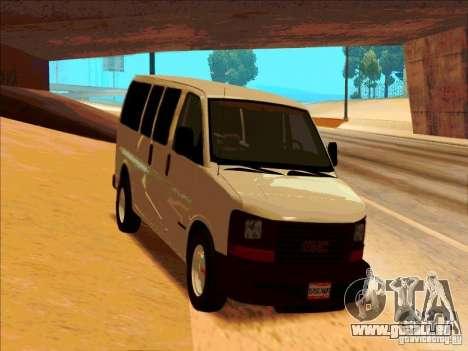 GMC Savanna 2500 pour GTA San Andreas vue arrière