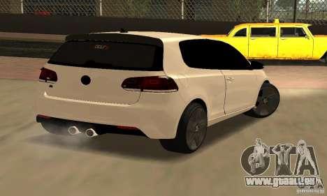 Volkswagen Golf R Modifiye pour GTA San Andreas sur la vue arrière gauche