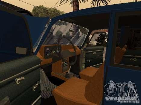 Moskvich 412-4 x 4 für GTA San Andreas obere Ansicht