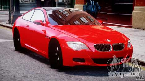 BMW M6 Orange-Black Bullet für GTA 4 Innenansicht