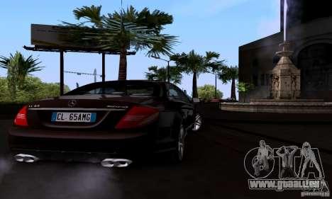 Mercedes-Benz CL65 AMG E.U. pour GTA San Andreas sur la vue arrière gauche