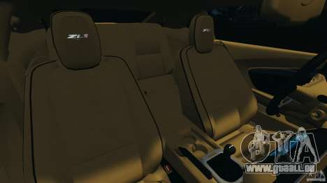 Chevrolet Camaro ZL1 2012 v1.0 Smoke Stripe pour GTA 4 est un côté