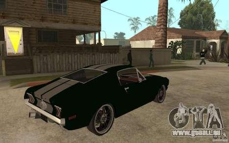 Ford Mustang TOKYO DRIFT pour GTA San Andreas vue de droite