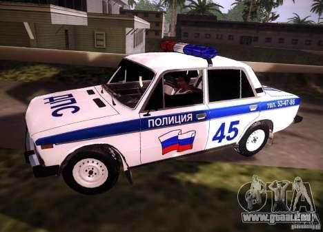 VAZ 2106 Polizei V 2.0 für GTA San Andreas linke Ansicht