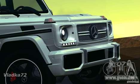Mercedes-Benz G65 AMG 2013 pour GTA San Andreas sur la vue arrière gauche