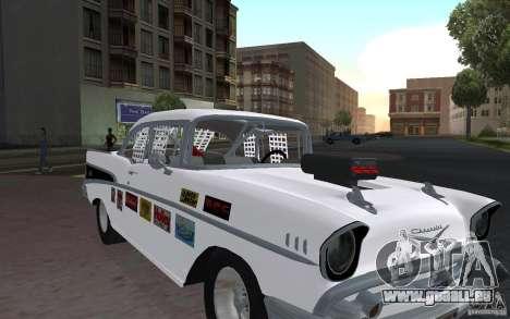 Chevrolet BelAir Bloodring Banger 1957 pour GTA San Andreas laissé vue