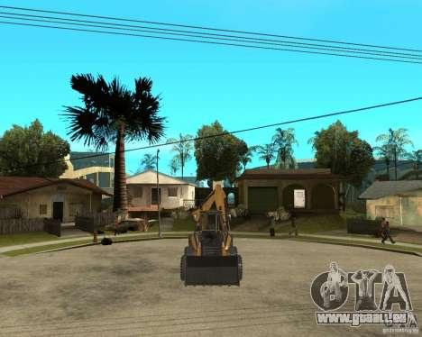 Lastik Tekerli Dozer pour GTA San Andreas vue arrière