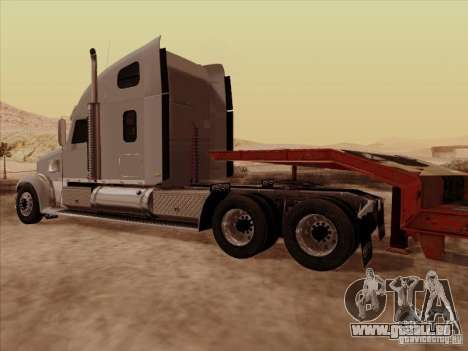 Freightliner Coronado für GTA San Andreas Rückansicht