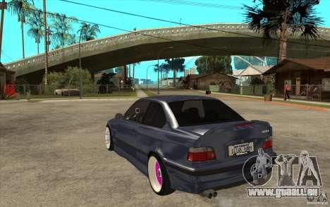 BMW E36 M3 Street Drift Edition pour GTA San Andreas sur la vue arrière gauche
