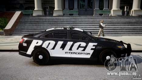 Ford Taurus Police Interceptor 2011 [ELS] für GTA 4 Innenansicht