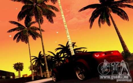 Chevrolet Camaro Tuning pour GTA San Andreas vue de dessus