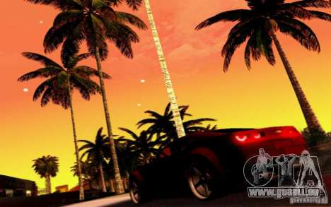 Chevrolet Camaro Tuning für GTA San Andreas obere Ansicht