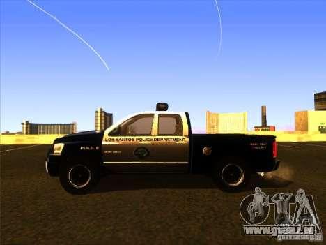Dodge Ram 1500 Police pour GTA San Andreas sur la vue arrière gauche