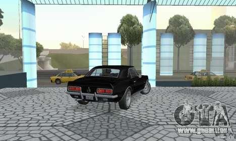 Chevrolet Camaro RSSS 1967 pour GTA San Andreas laissé vue