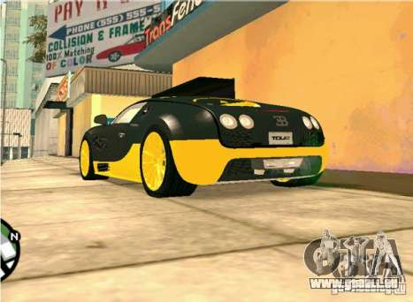 Bugatti Veyron Super Sport final pour GTA San Andreas vue de droite