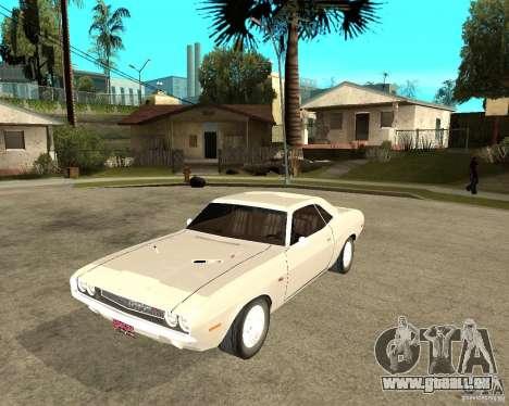 Dodge Challenger R/T Hemi 70 pour GTA San Andreas