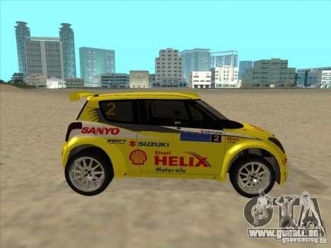 Suzuki Rally Car pour GTA San Andreas vue de droite