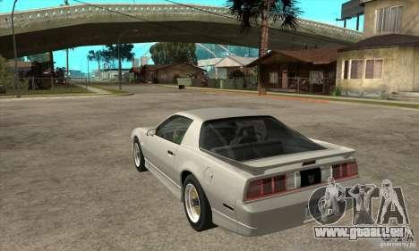 Pontiac Trans AM 1987 für GTA San Andreas zurück linke Ansicht