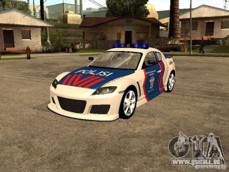 Mazda RX-8 Police pour GTA San Andreas