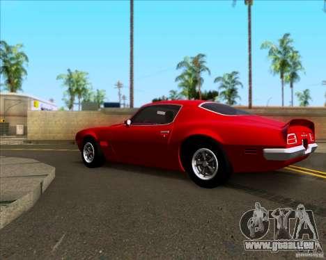 Pontiac Firebird 1970 für GTA San Andreas linke Ansicht